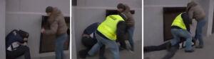 Policjant kopał demonstranta. Jest śledztwo prokuratury