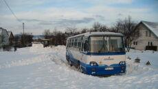 Autobus w zaspie ( Kontakt24, Seweryn Krok)