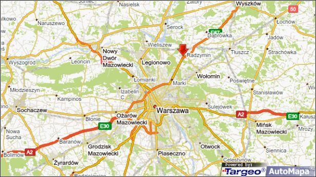 Potrącenie pieszych na S8 targeo.pl