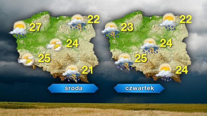 Prognoza pogody na pięć dni: <br />bardzo ciepło, ale burzowo