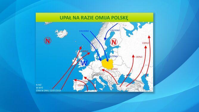 Upał na razie omija Polskę