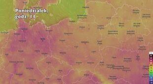 Temperatura w ciągu najbliższych pięciu dni (Ventusky.com) | wideo bez dźwięku
