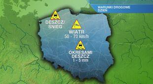 Warunki drogowe w piątek 29.11